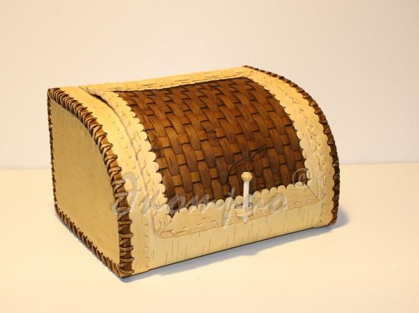 Как сделать хлебницу из бересты своими руками видео